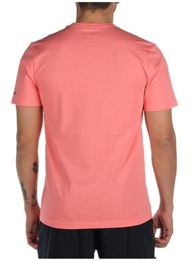 Columbia Columbia Erkek Kırmızı Bisiklet Yaka T-Shirt Kırmızı